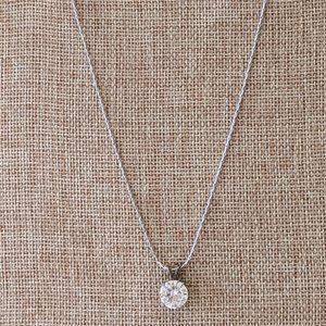 Stunning Diamond Stud Necklace